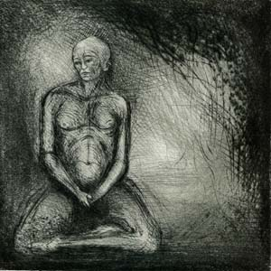 In the Midst of Light, 2002, Drypoints by Seyed Edalatpour